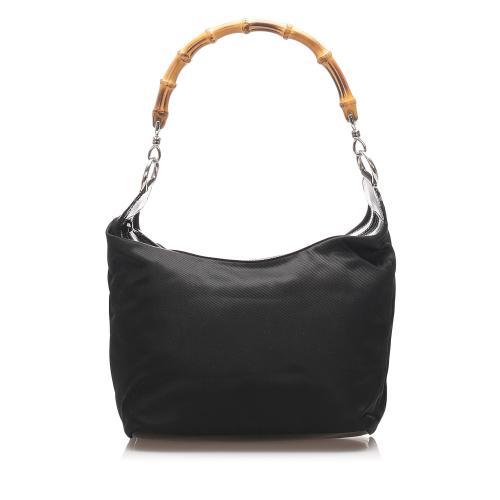 Gucci Nylon Bamboo Shoulder Bag