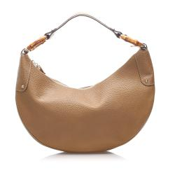Gucci Leather Bamboo Ring Hobo