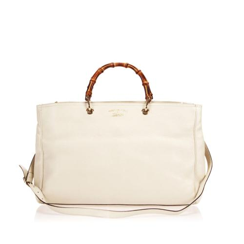 Gucci Leather Bamboo Satchel