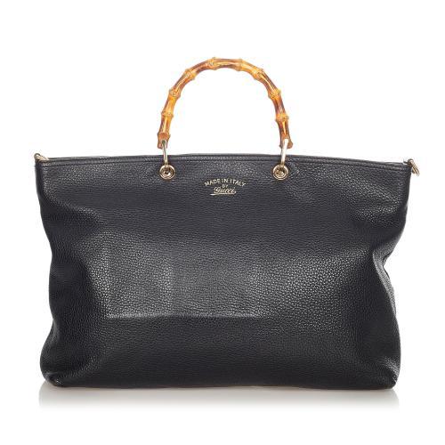 Gucci Bamboo Shopper Leather Tote Bag