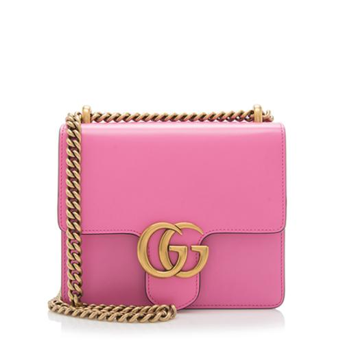 Gucci Calfskin GG Marmont Small Chain Bag
