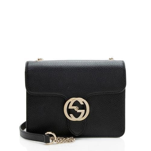Gucci Calfskin Interlocking G Small Shoulder Bag