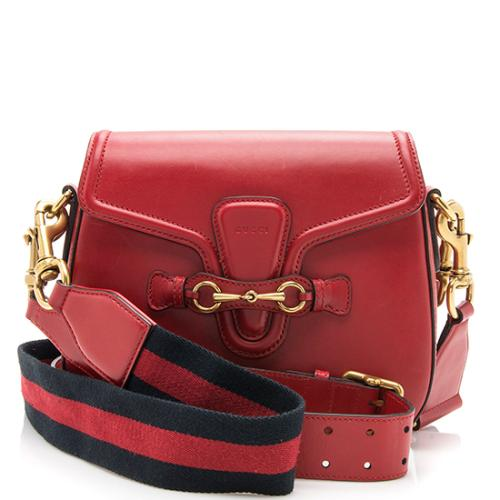Gucci Calfskin Lady Web Medium Shoulder Bag