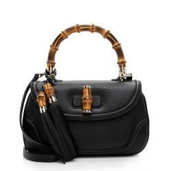 Gucci Calfskin New Bamboo Top Handle Satchel