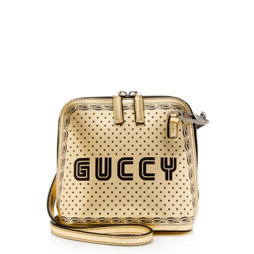 Gucci Calfskin Star Print Guccy Mini Shoulder Bag