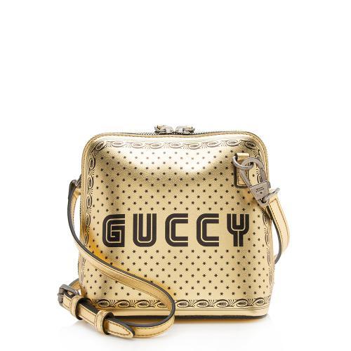Gucci Calfskin Star Print Guccy Mini Shoulder Bag