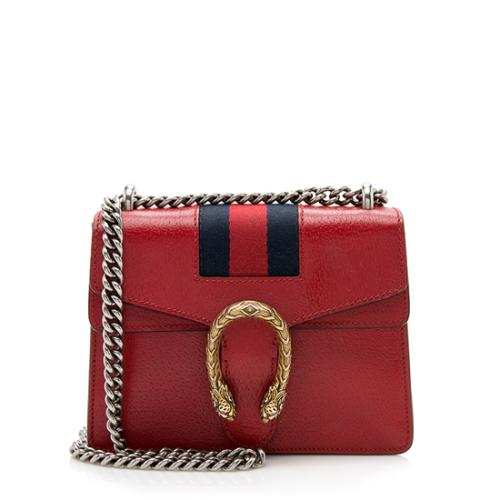 Gucci Calfskin Web Dionysus Mini Bag
