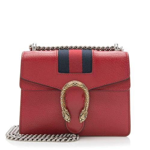 Gucci Calfskin Web Dionysus Mini Chain Bag