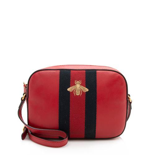 Gucci Calfskin Webby Bee Small Shoulder Bag