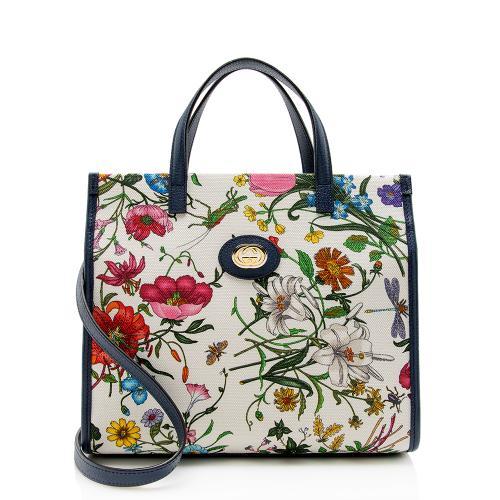 Gucci Canvas Flora Tote