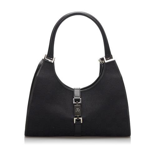 Gucci Canvas Jackie Shoulder Bag