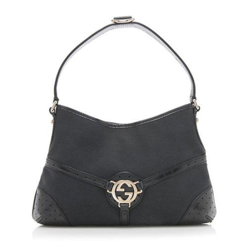 Gucci Canvas Reins Medium Shoulder Bag