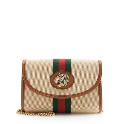 Gucci Canvas Web Rajah Mini Shoulder Bag