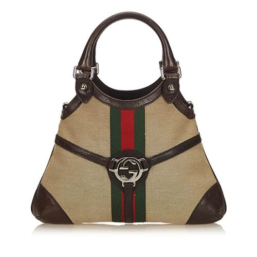 Gucci Canvas Web Reins Small Satchel