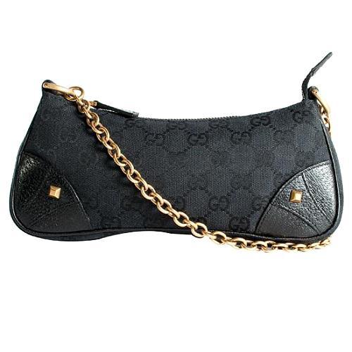 Gucci Chainlink Nailhead Pochette Shoulder Handbag