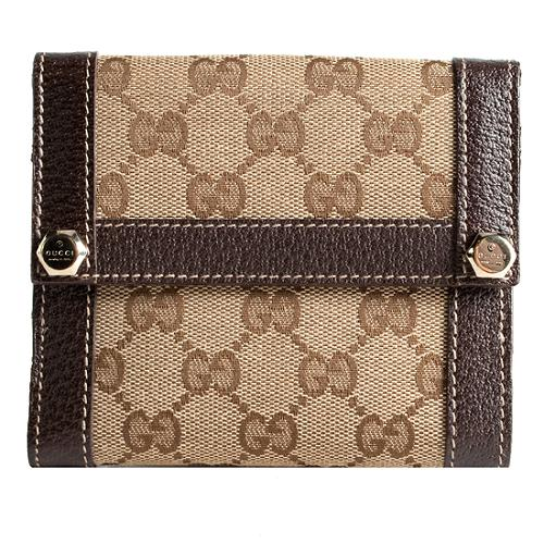 Gucci Charmy GG Fabric French Wallet