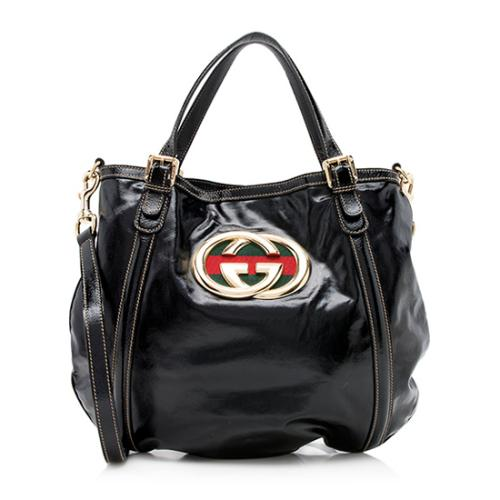 Gucci Coated Canvas Dialux Britt Convertible Tote