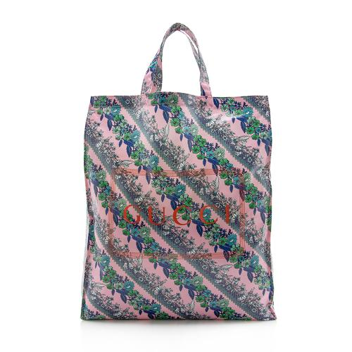 Gucci Coated Canvas Floral Logo Tote