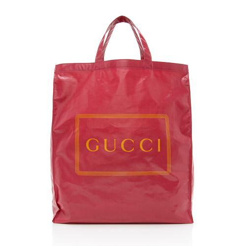 Gucci Coated Canvas Logo Tote