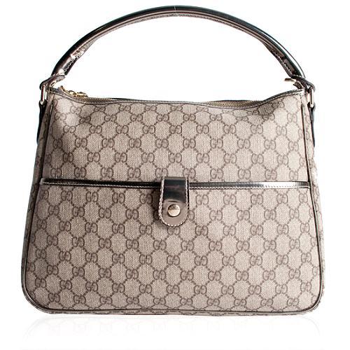 Gucci Coated GG Fabric Metallic Shoulder Handbag