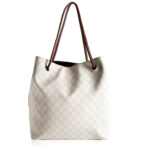 Gucci Coated GG Fabric Shopping Tote