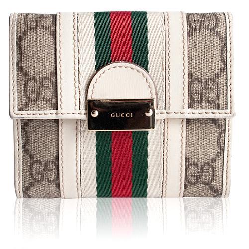Gucci Coated GG Fabric Treasure Wallet