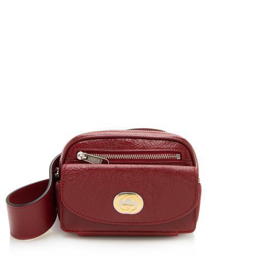 Gucci Cracked Calfskin Morpheus Belt Bag - Size 28 / 70