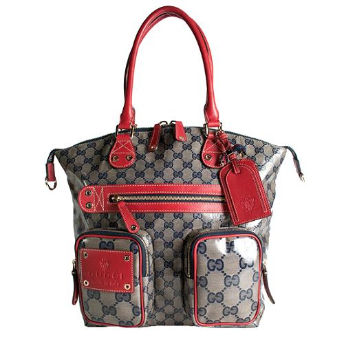 Gucci Crystal GG Fabric Large Travel Tote