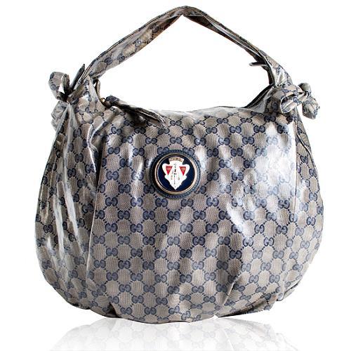 Gucci Crystal GG Hysteria Hobo Handbag