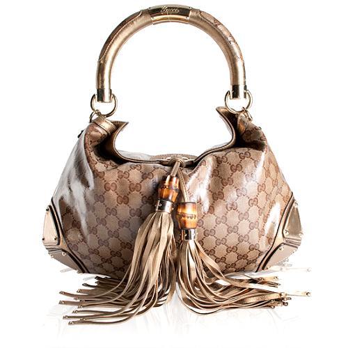 Gucci Crystal GG Indy Medium Top Handle Handbag