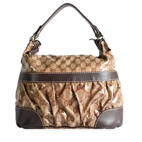 Gucci Crystal GG Mix Hobo Handbag