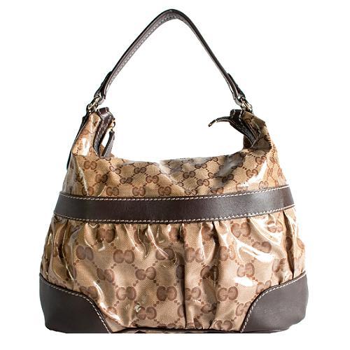 Gucci Crystal GG Mix Hobo Handbag