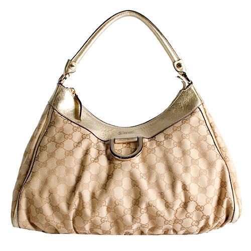 Gucci D Gold Large Hobo Handbag