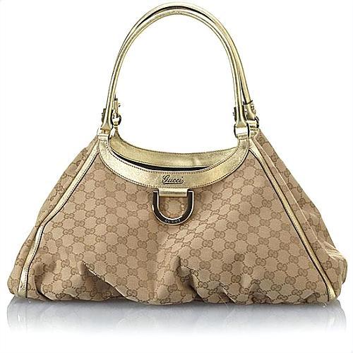Gucci D Gold Large Shoulder Handbag - FINAL SALE
