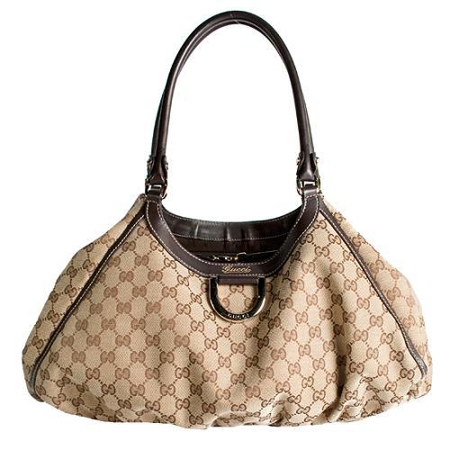 Gucci D Gold Large Shoulder Handbag