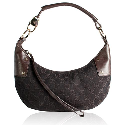 Gucci Denim GG Fabric Small Hobo Handbag