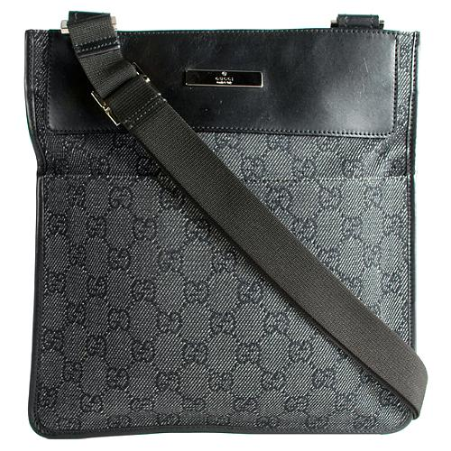 Gucci Denim Small Messenger Bag