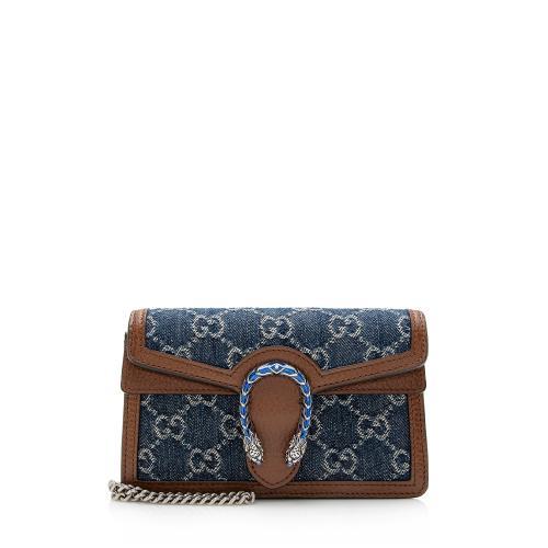 Gucci Denim Super Mini Dionysus Shoulder Bag