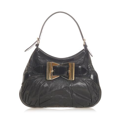 Gucci Dialux Queen Leather Hobo Bag