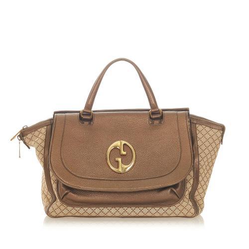 Gucci Diamante 1973 Canvas Handbag