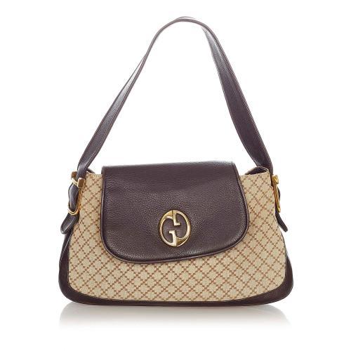Gucci Diamante 1973 Canvas Shoulder Bag
