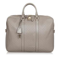 Gucci Diamante Bright Leather Briefcase