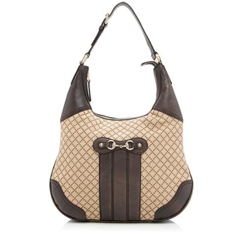 Gucci Diamante Canvas Catherine Shoulder Bag
