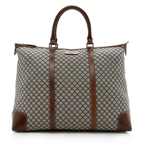 Gucci Diamante Canvas Joy Large Zip Tote