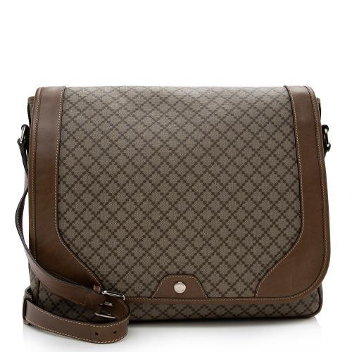 Gucci Diamante Canvas Large Messenger Bag