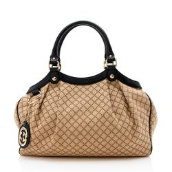 Gucci Diamante Canvas Sukey Medium Tote