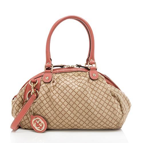 Gucci Diamante Canvas Sukey Satchel - FINAL SALE