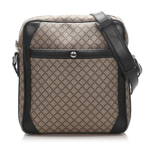 Gucci Diamante Coated Canvas Crossbody Bag