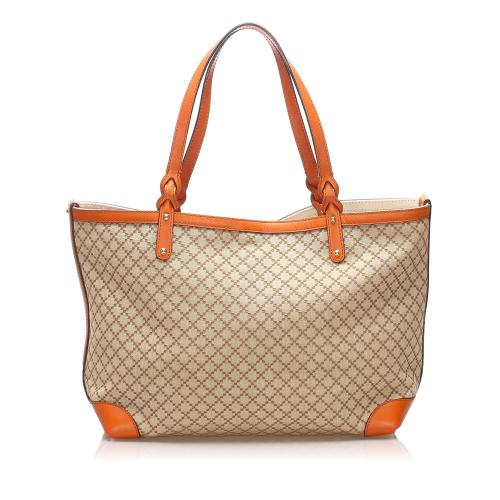 Gucci Diamante Craft Canvas Tote Bag