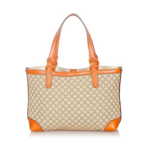 Gucci Diamante Craft Canvas Tote Bag